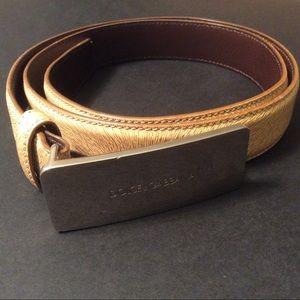 Dolce & Gabbana tan leather? belt size 32.